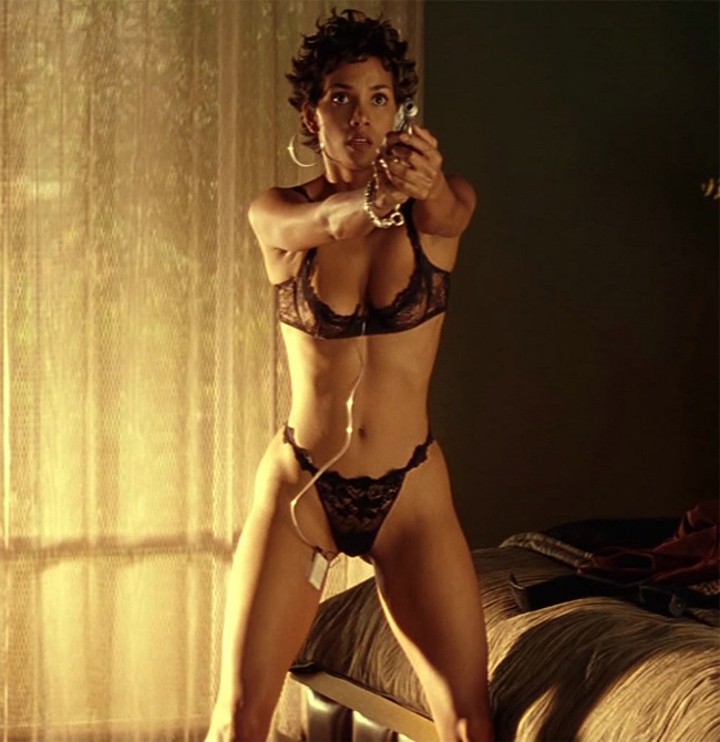 Halle Berry Black Lingirie