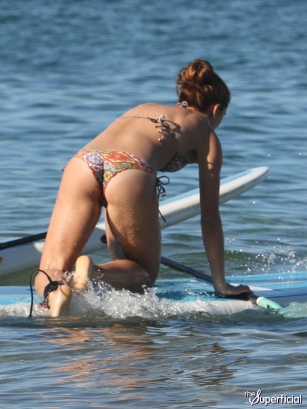 Alex Morgan Surfing